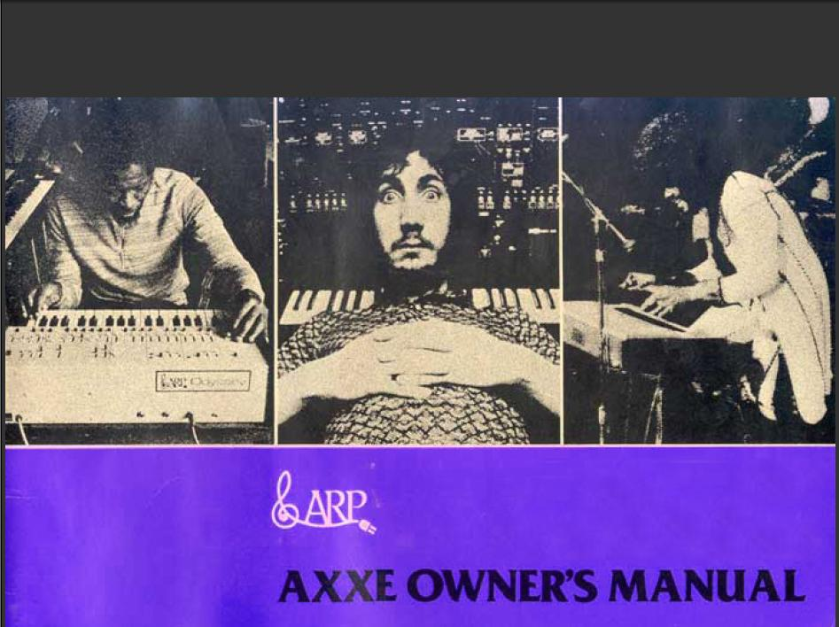 ARP AXXE Owners Manual
