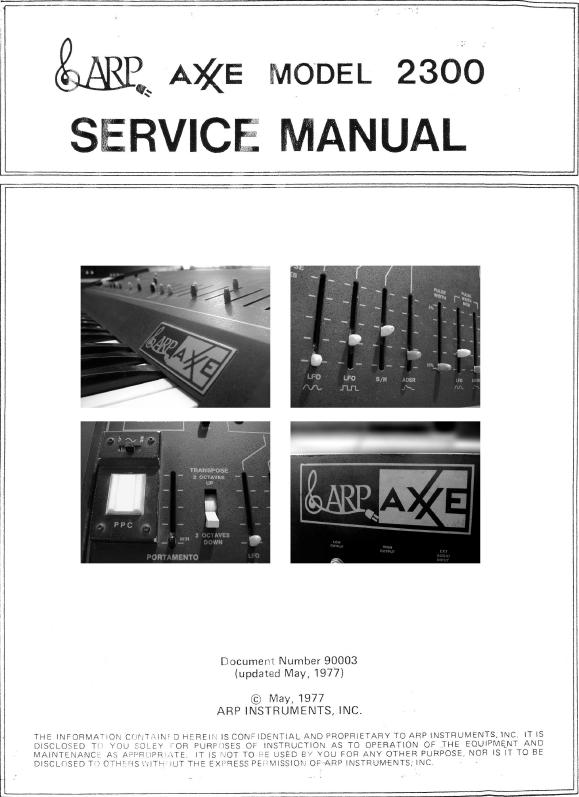 ARP AXXE SERVICE MANUALl