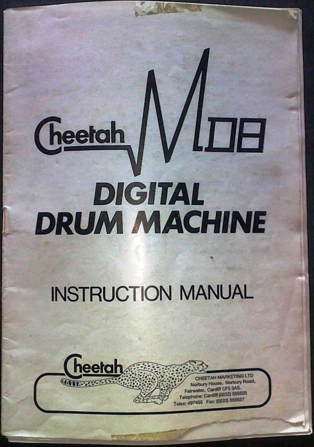 Cheetah MD8 Drum Machine Manual